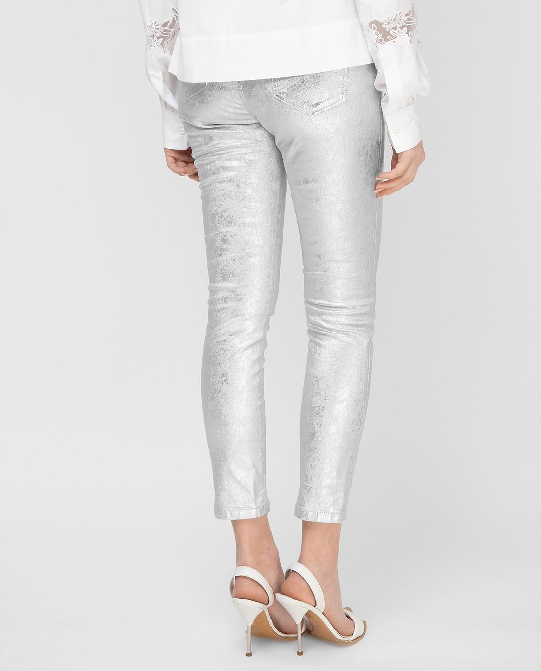 Ermanno Scervino Серебристые джинсы D347P700XFW изображение 4