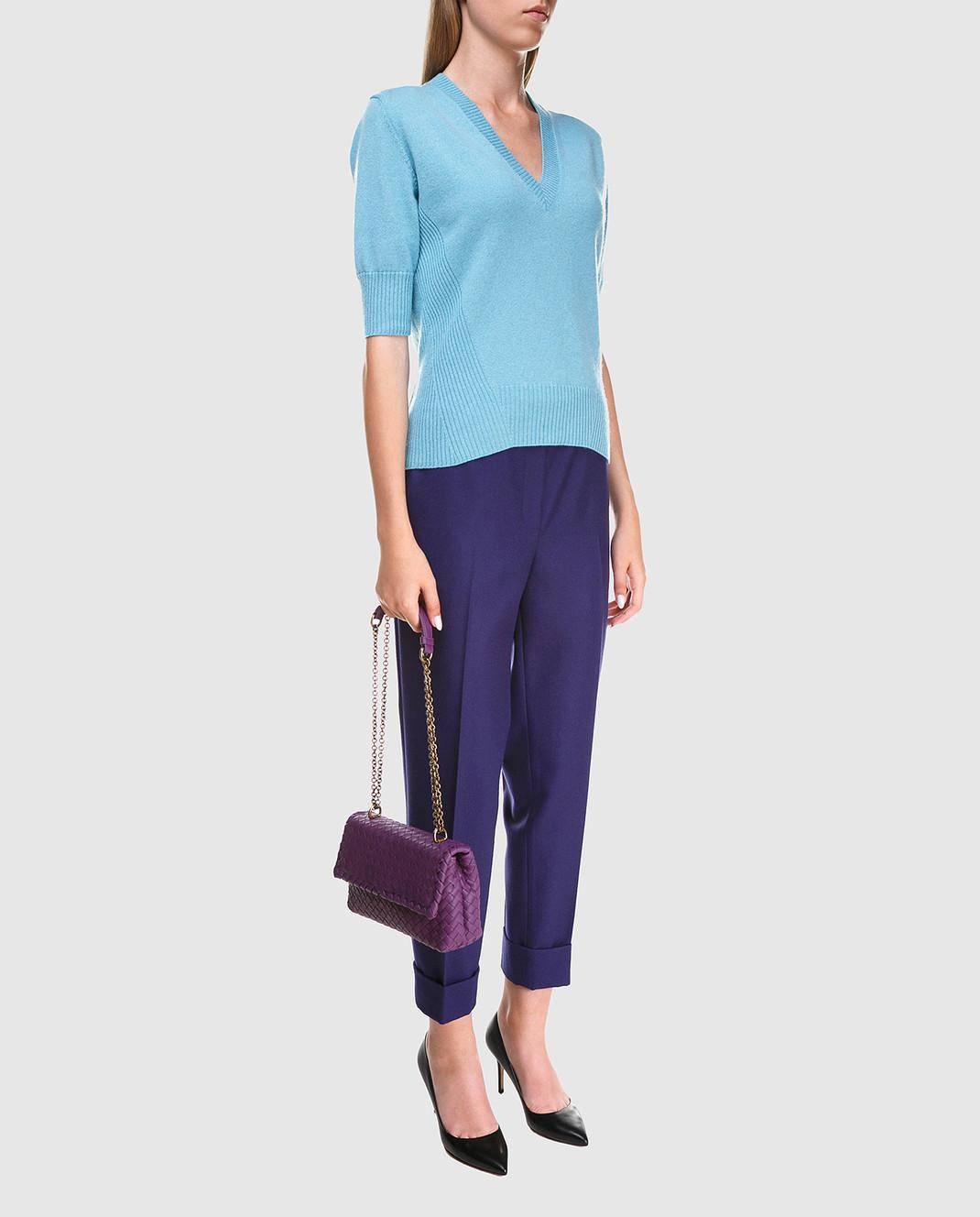 Bottega Veneta Синие брюки 513214 изображение 2