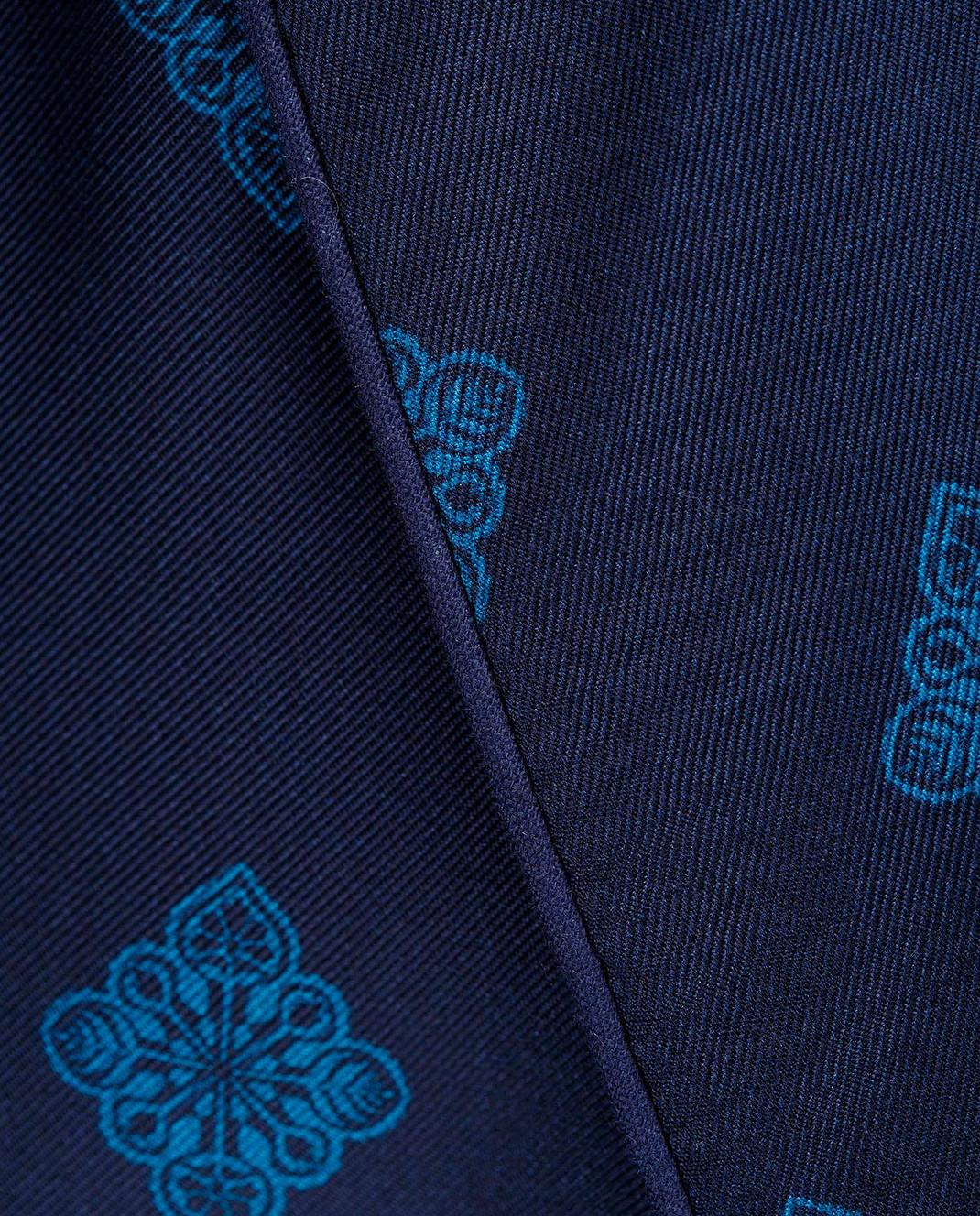 Derek Rose Темно-синий халат из шелка 5535OTIS011 изображение 5