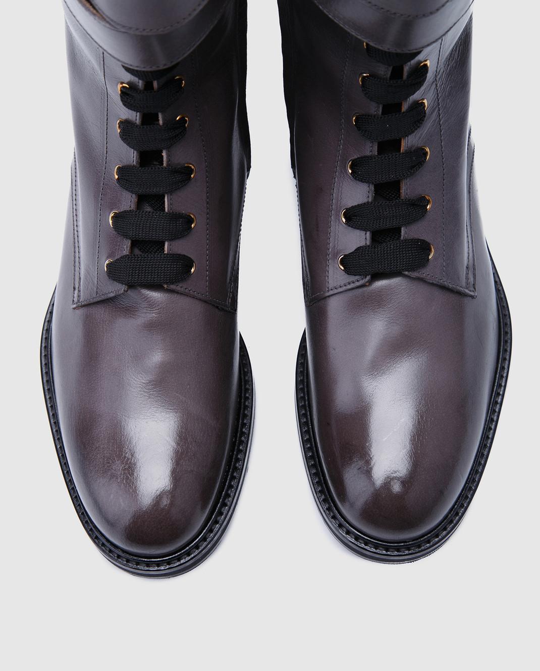 Doucal's Коричневые кожаные ботинки DD8260SOFIUF063 изображение 4