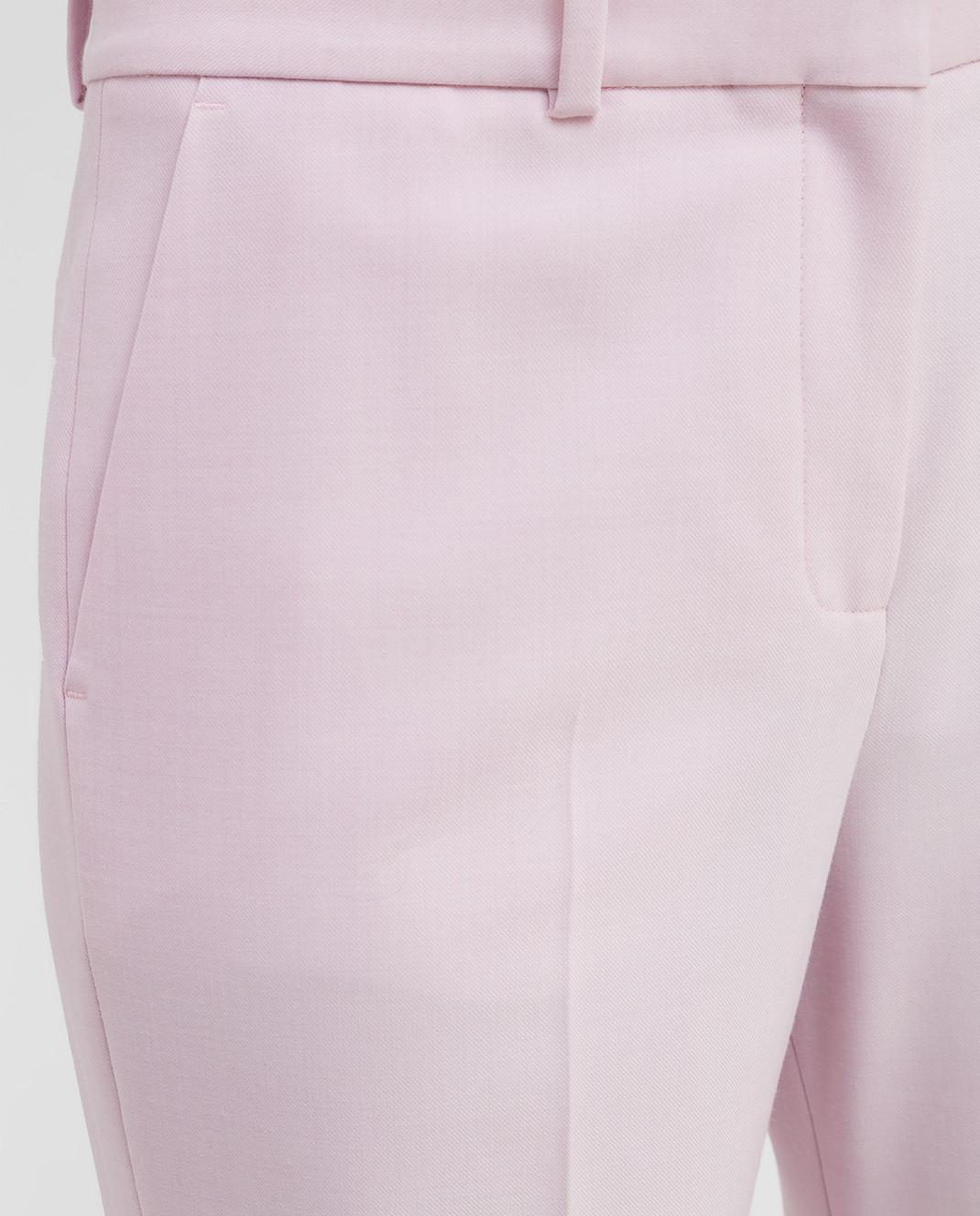 Victoria by Victoria Beckham Розовые брюки TRVV097 изображение 5