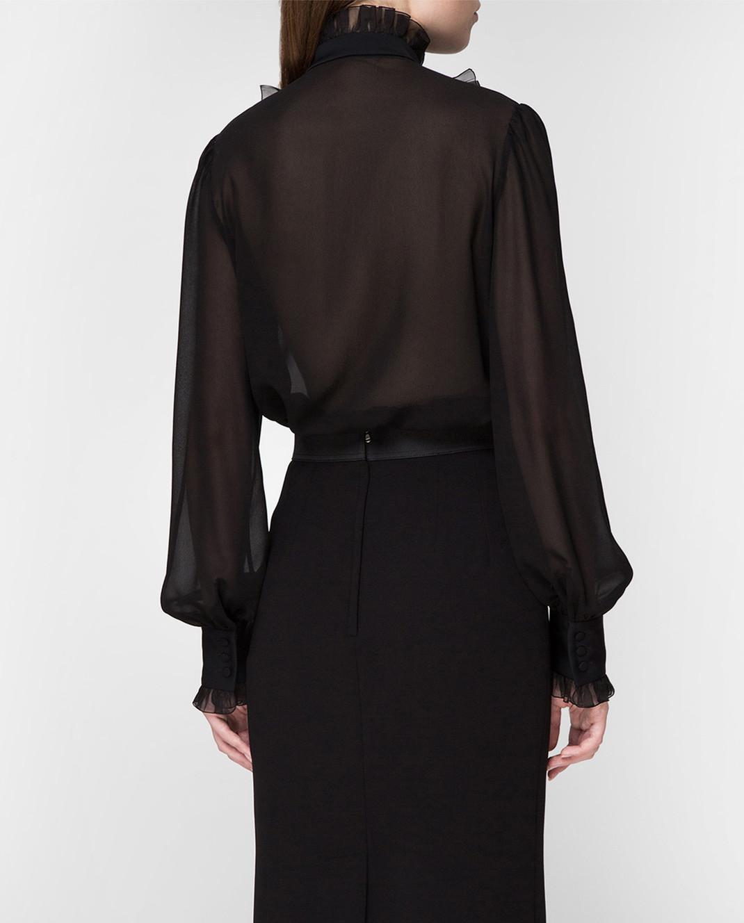 Dolce&Gabbana Черная блуза F5K14TFU1AR изображение 4