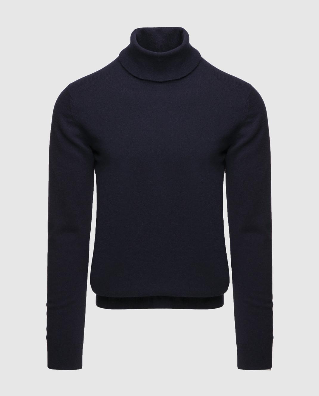 Johnstons Темно-синий свитер из кашемира изображение 1