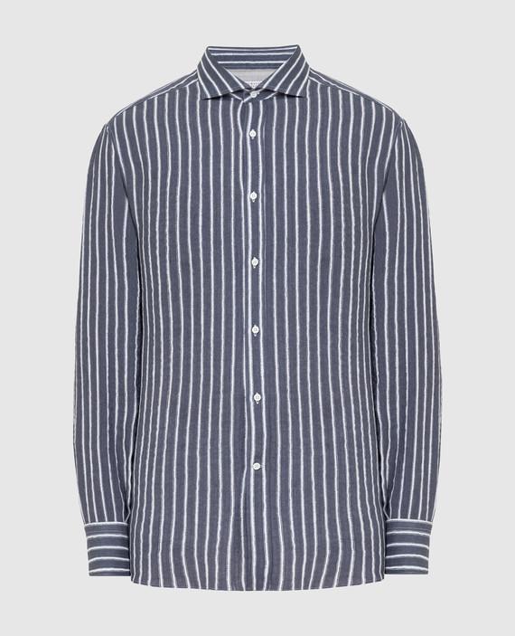 Темно-серая рубашка из льна