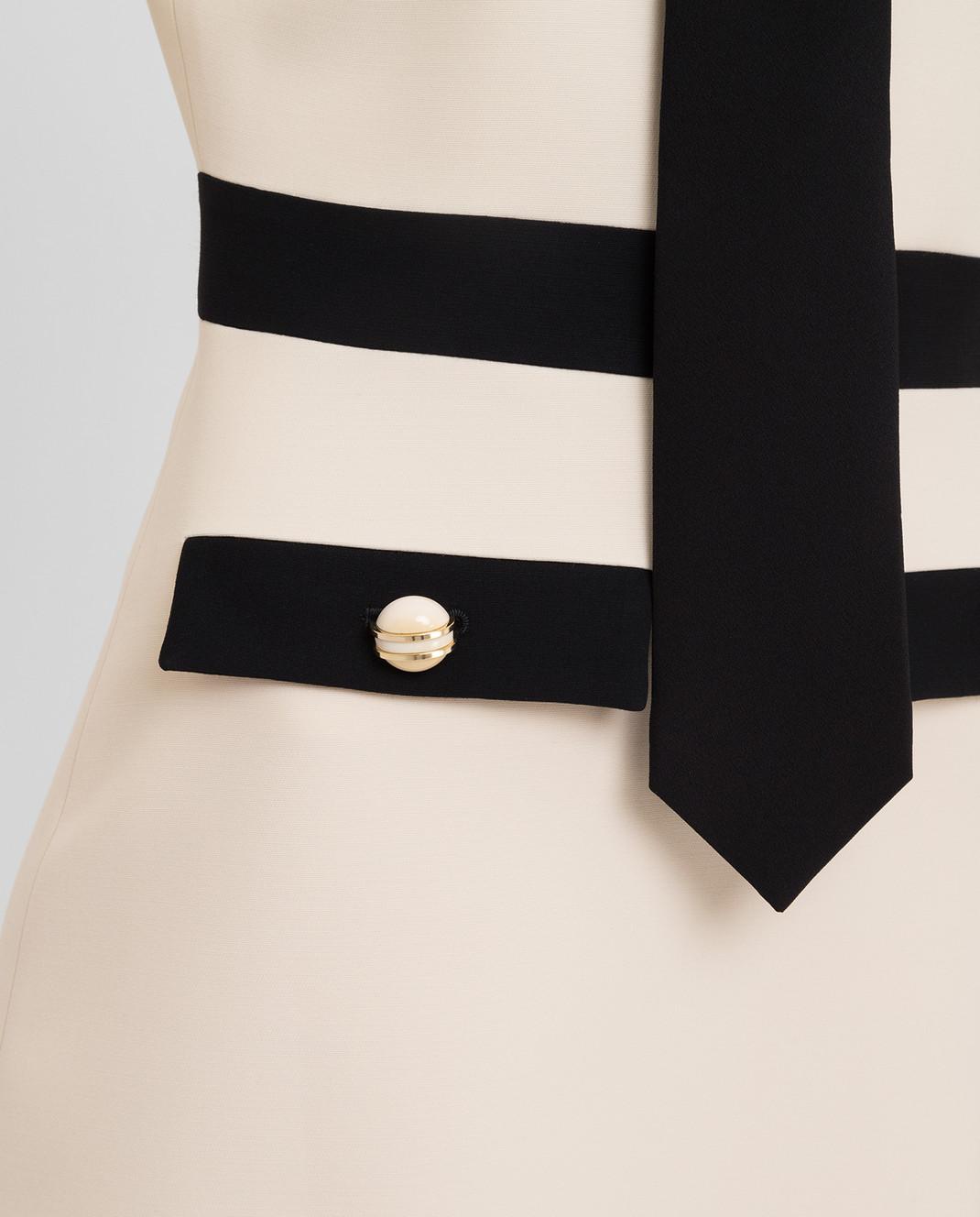 Gucci Светло-бежевое платье 595257 изображение 5