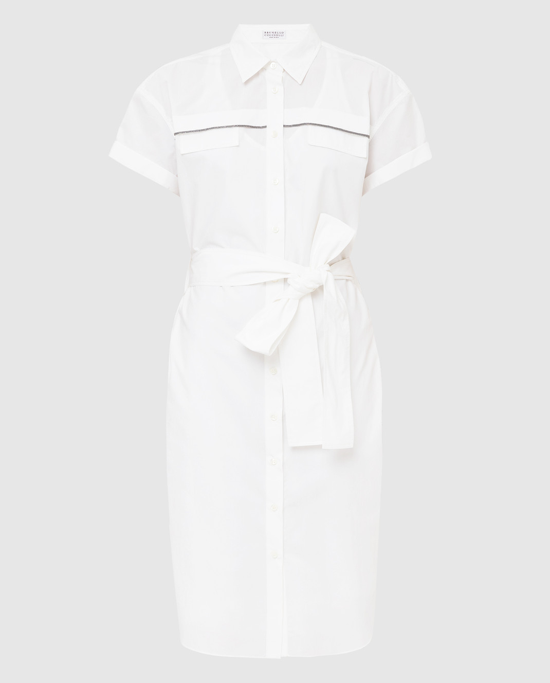 Brunello Cucinelli Белое платье MH127AFM52
