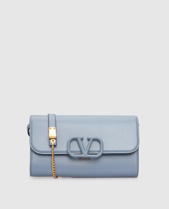 """Голубая кожаная сумка """"Vsling"""""""