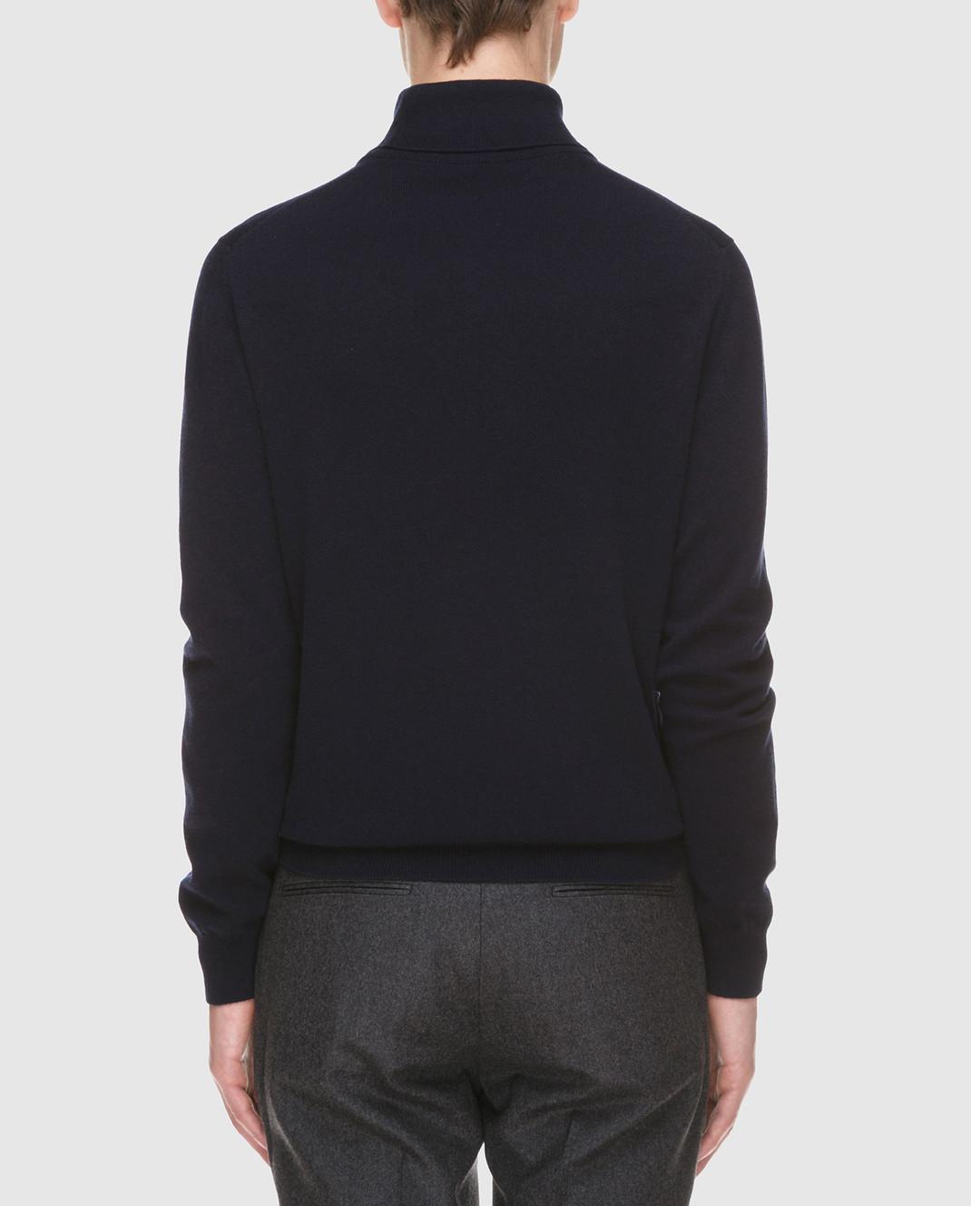 Johnstons Темно-синий свитер из кашемира изображение 4
