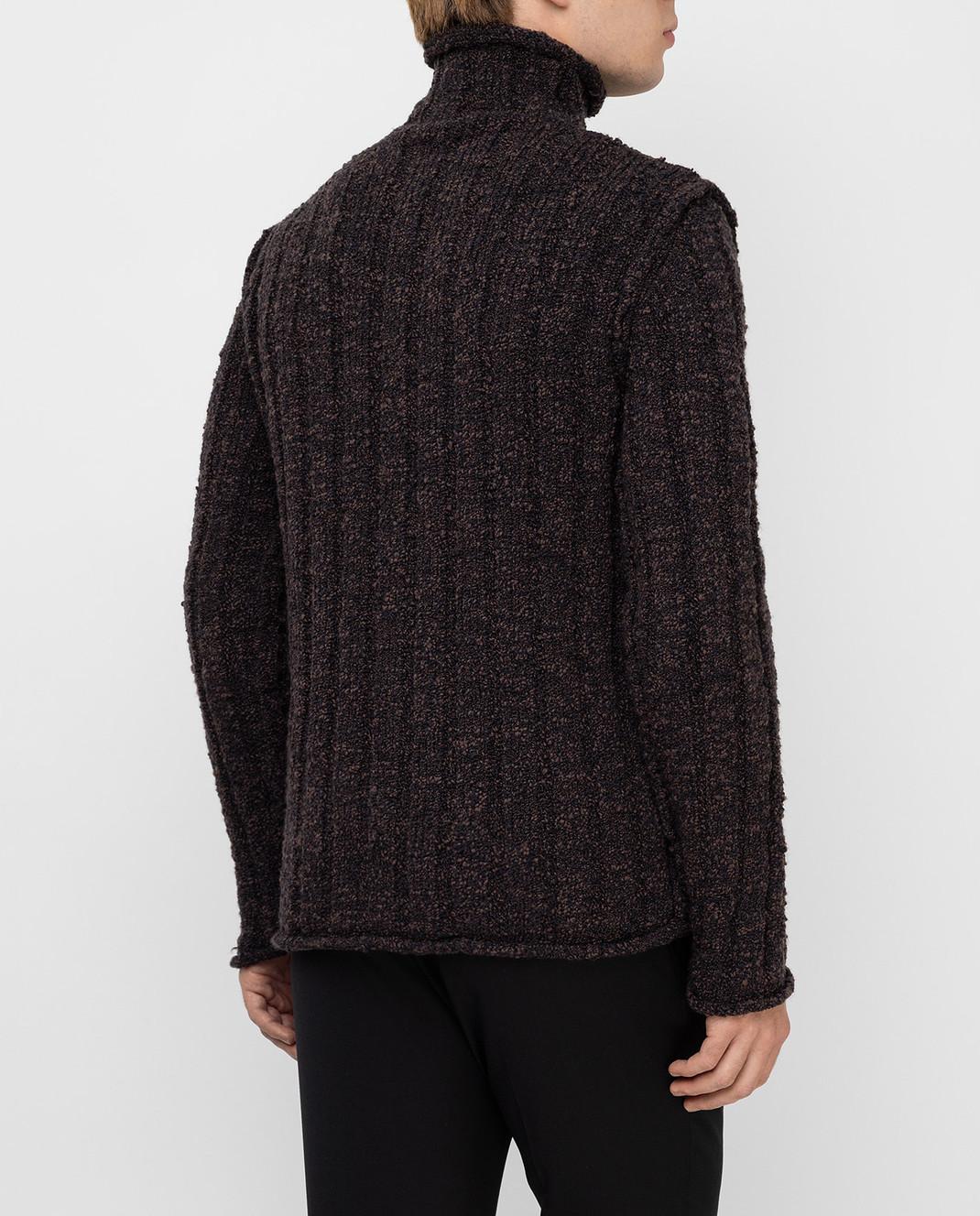 Dolce&Gabbana Коричневый свитер из шерсти изображение 4