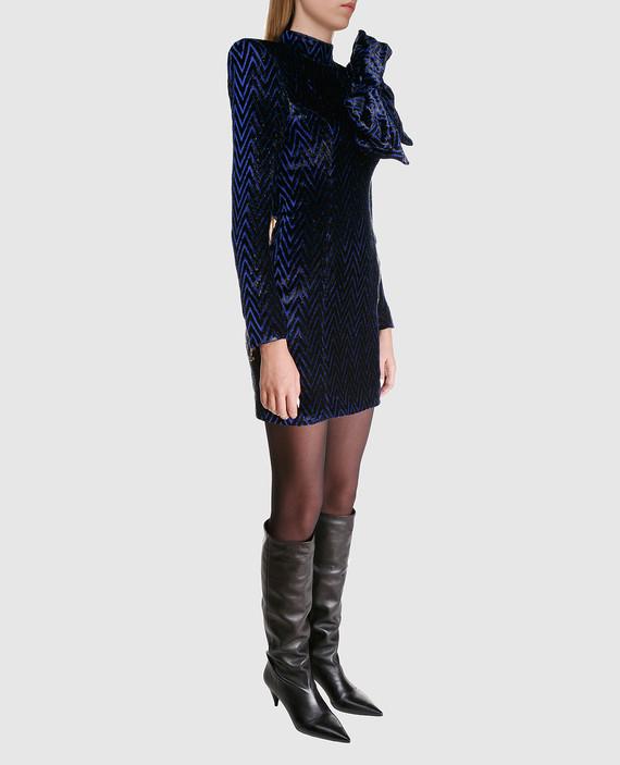 Синее платье с блестками hover