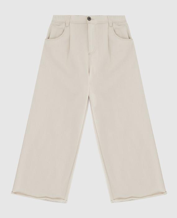 Детские светло-бежевые брюки