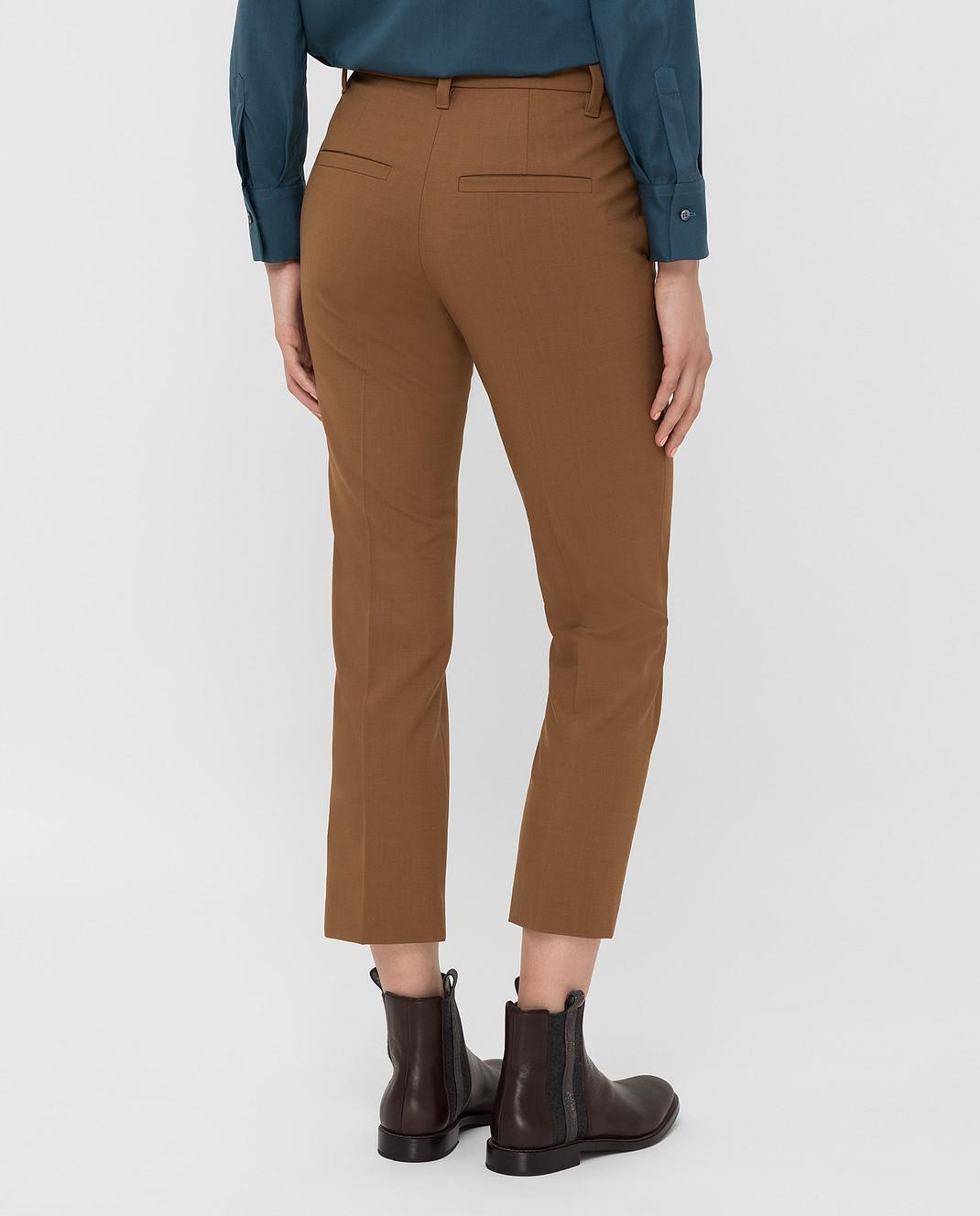 Brunello Cucinelli Коричневые брюки изображение 4