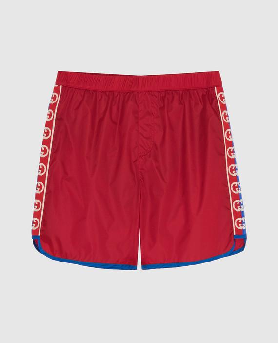 Детские красные плавательные шорты