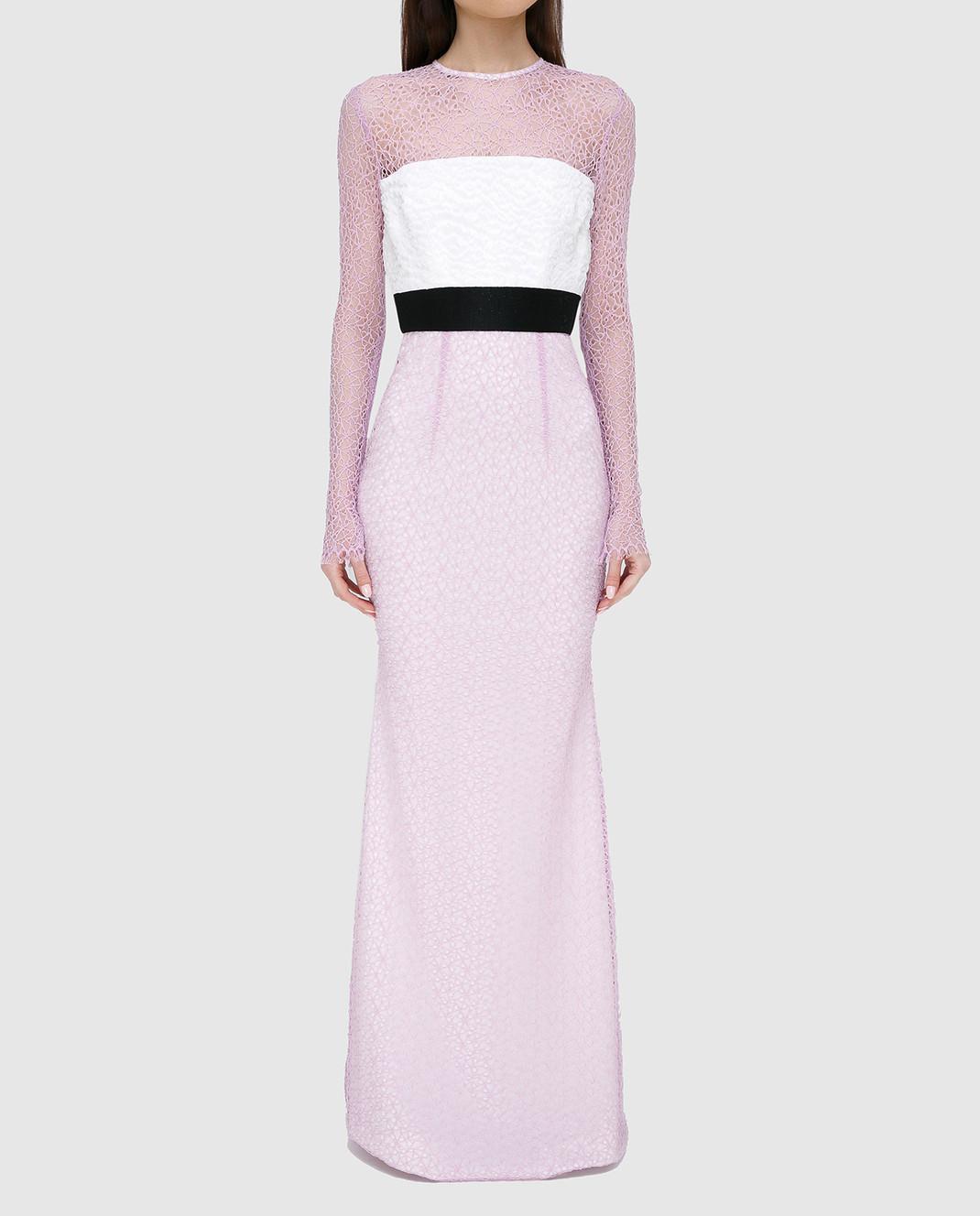 Alex Perry Сиреневое платье из кружева D936 изображение 3