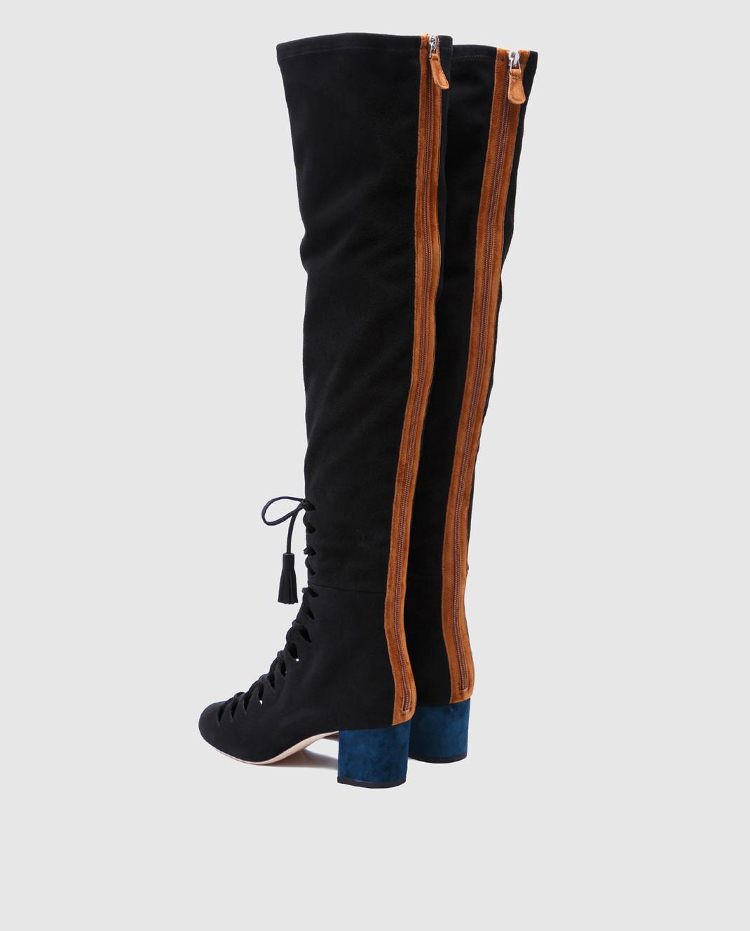 Laurence Dacade Черные замшевые ботфорты Sue SUE изображение 3
