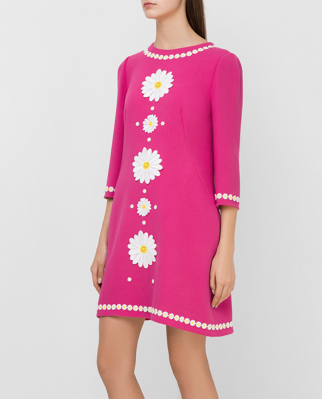 Dolce&Gabbana Розовое платье из шерсти F6UM4ZFU2TZ изображение 3