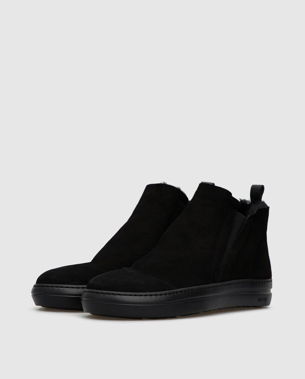 Gianfranco Butteri Черные замшевые ботинки на меху изображение 3