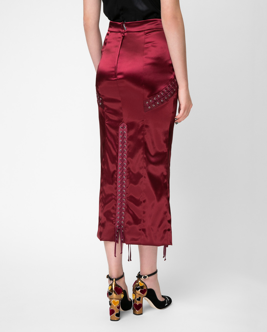 Dolce&Gabbana Красная юбка F4BCNTFURAD изображение 4