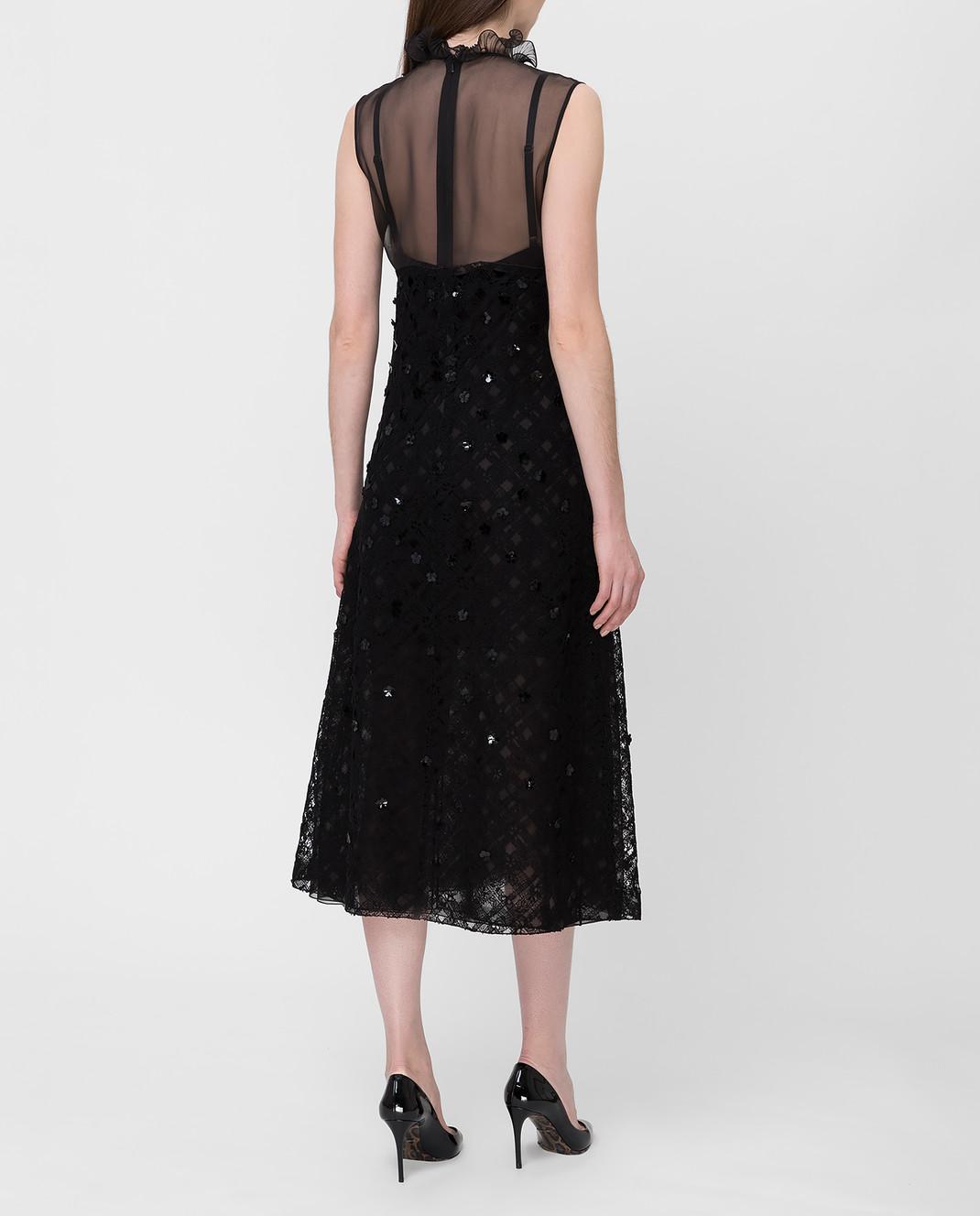 Bottega Veneta Черное платье с пайетками 523986 изображение 4