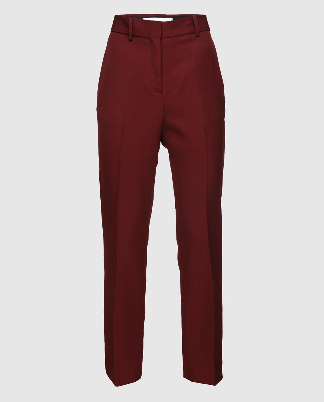 Victoria by Victoria Beckham Бордовые брюки из шерсти TRVV085B