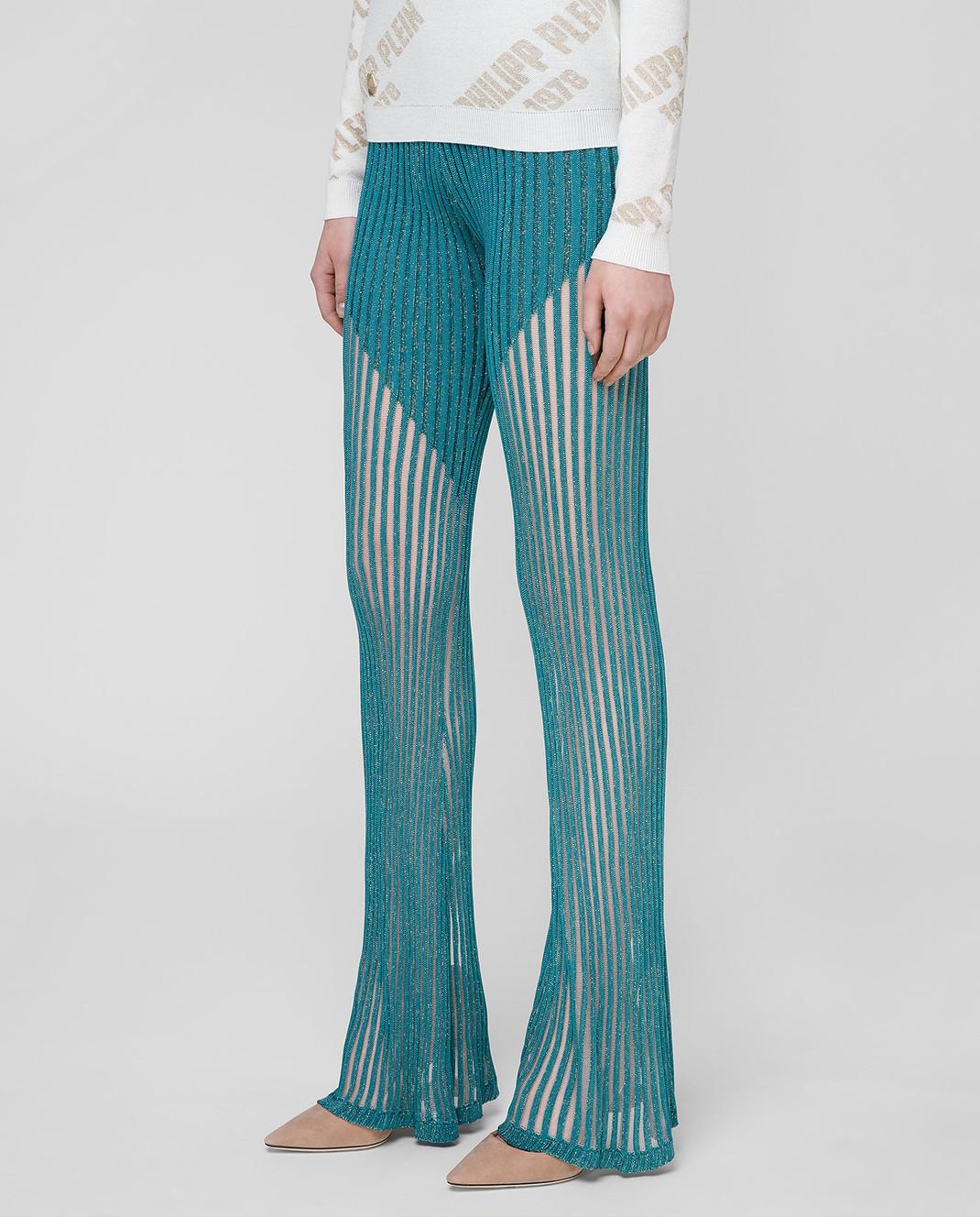 Philipp Plein Бирюзовые брюки WRT0466 изображение 3