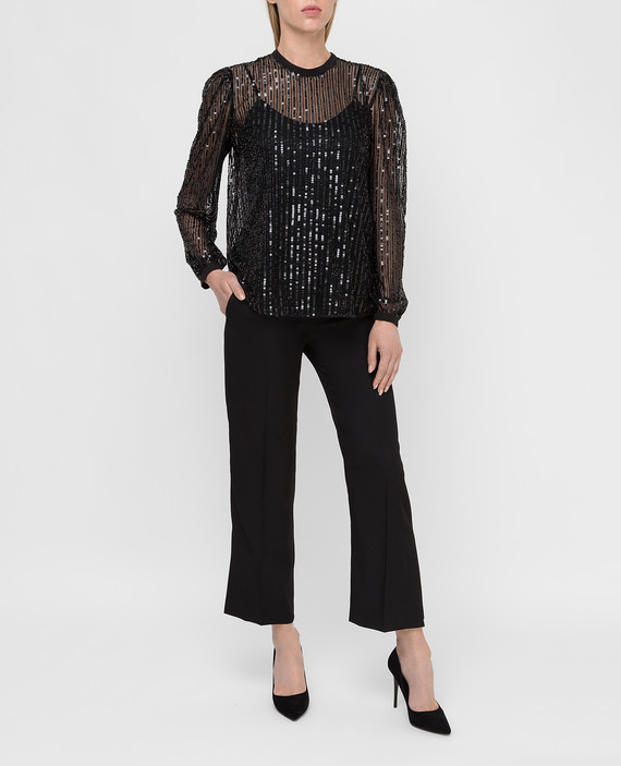 Черная блуза hover