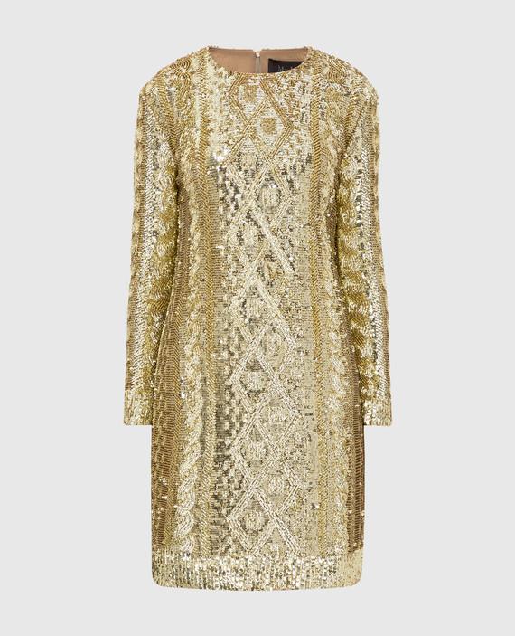 Золотистое платье в пайетках