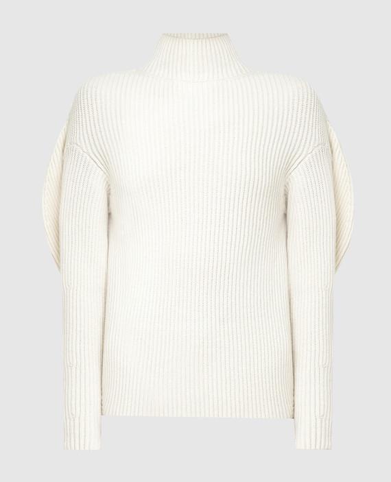 Светло-бежевый свитер из шерсти и кашемира