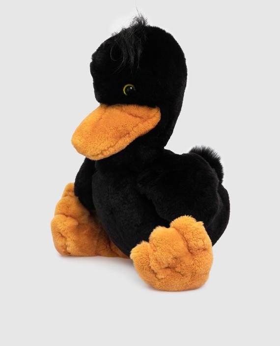 Детская черная игрушка утка hover