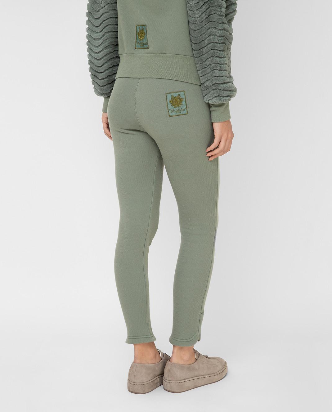 Mr&Mrs Italy Зеленые спортивные брюки JG054E изображение 4