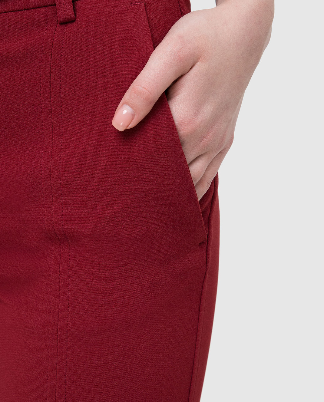 Victoria Beckham Бордовые брюки изображение 5