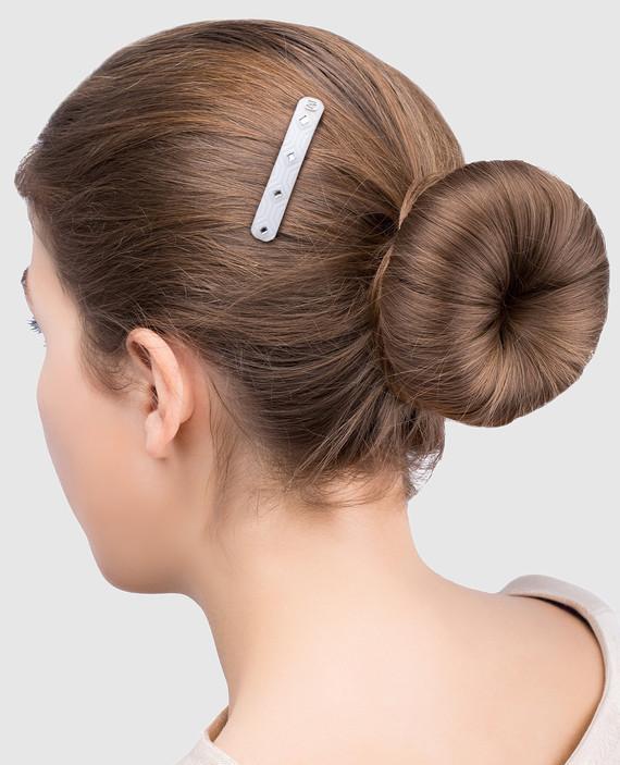 Белая заколка для волос с кристаллами Swarovski hover
