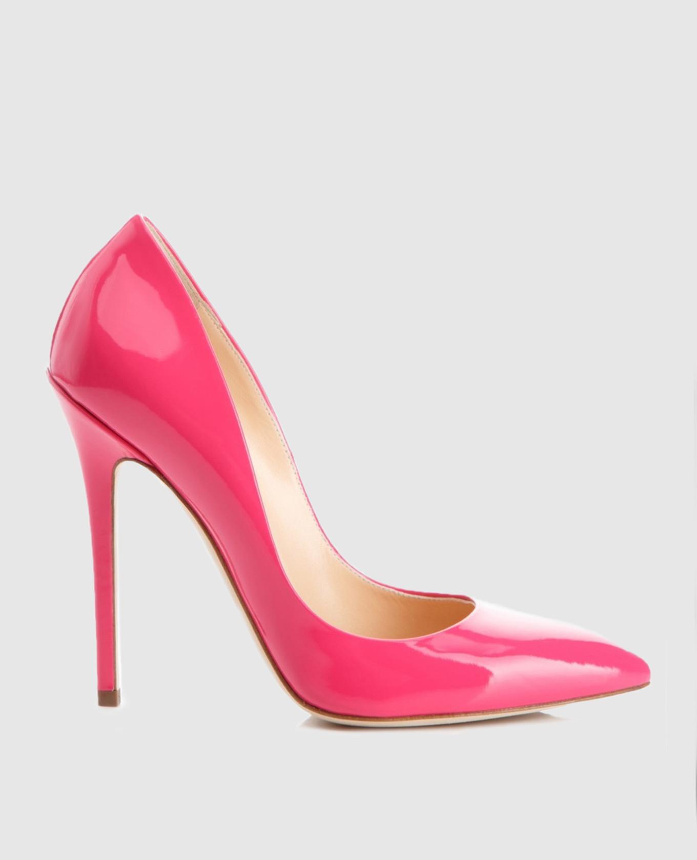 Розовые лодочки из лакированной кожи