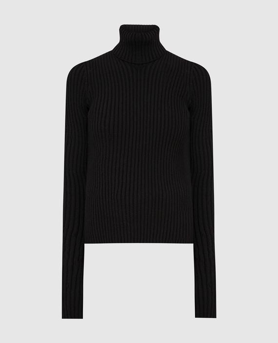 Темно-коричневый свитер из шерсти
