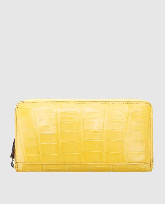 Желтый кожаный кошелек hover
