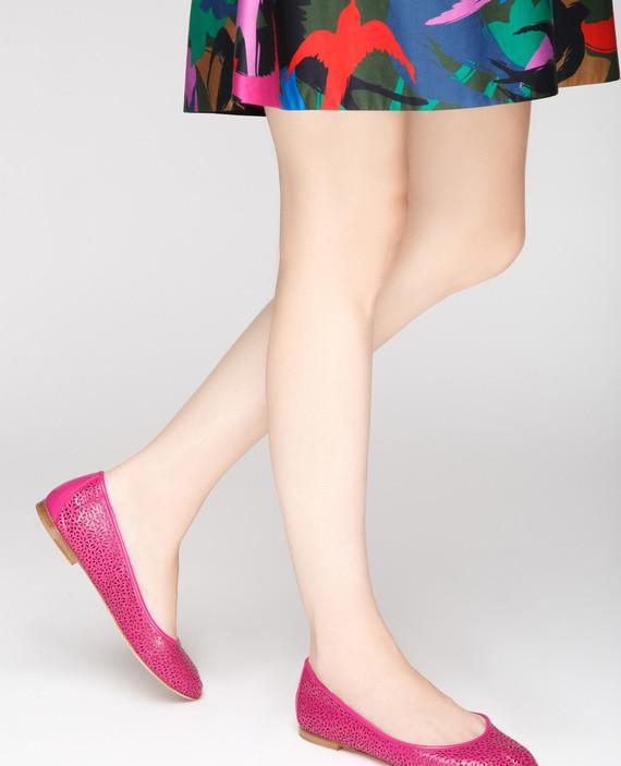 Розовые кожаные балетки GINESTRA hover