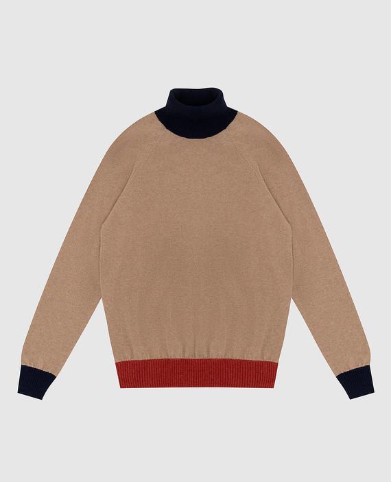 Детский бежевый свитер из кашемира