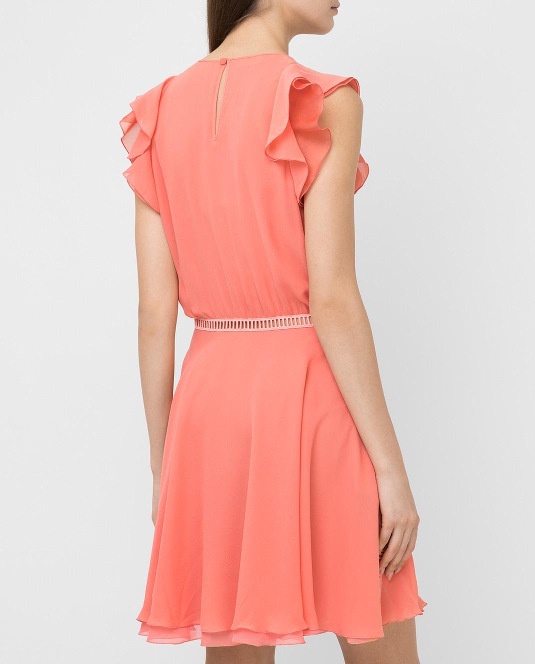 Giamba Коралловое платье из шелка PG5250 изображение 4