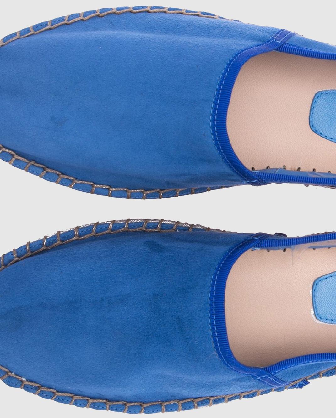 Santoni Синие замшевые эспадрильи WUAU56486COLSLCP изображение 4