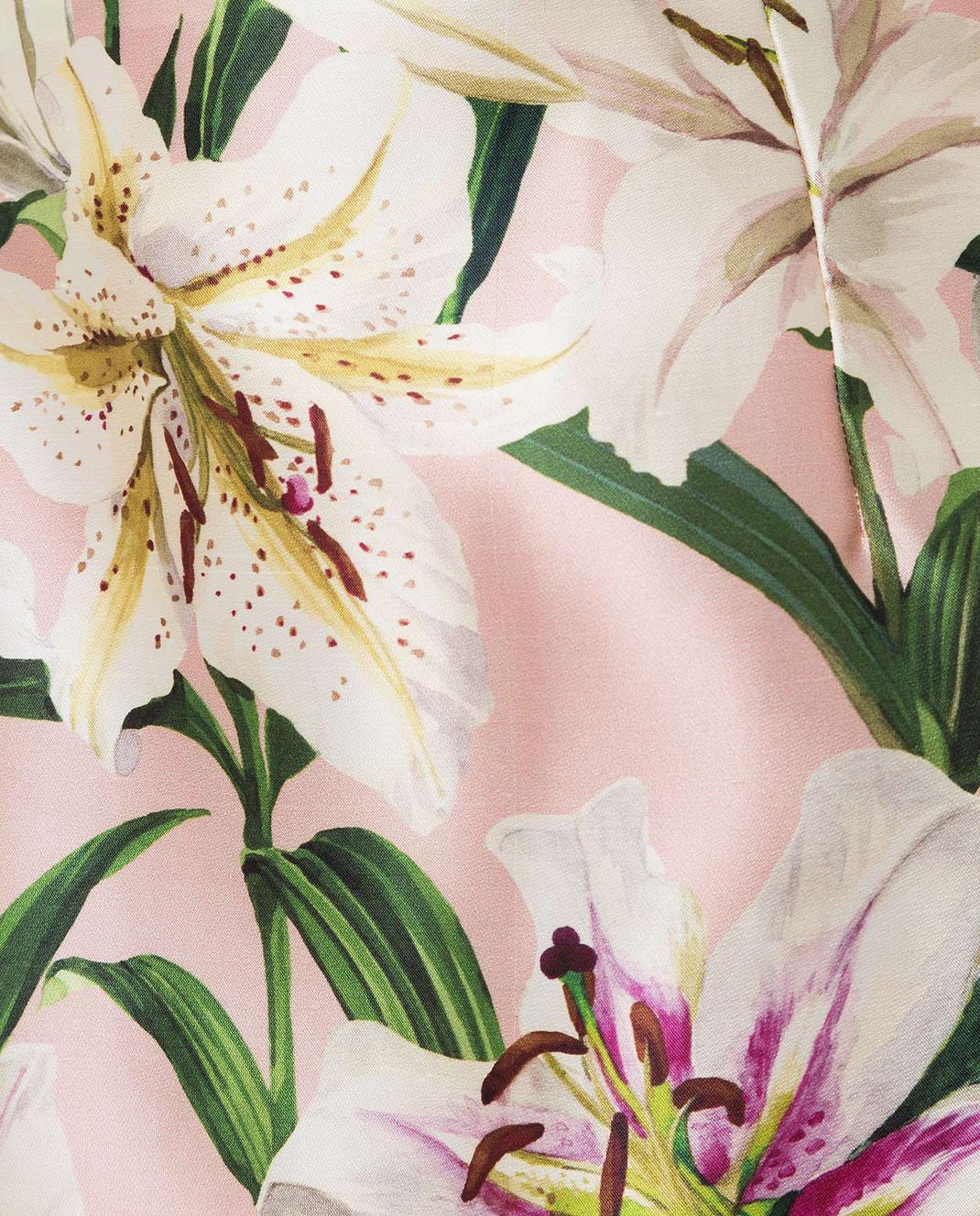 Dolce&Gabbana Розовая юбка из шелка изображение 5