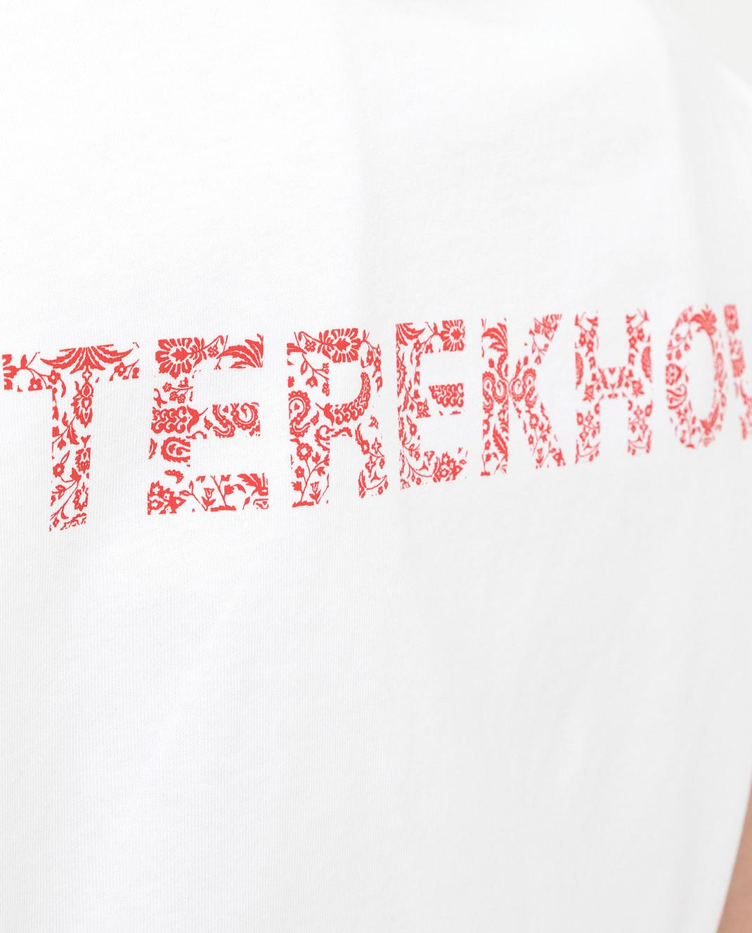 Alexander Terekhov Белая футболка TSH039PRED изображение 5