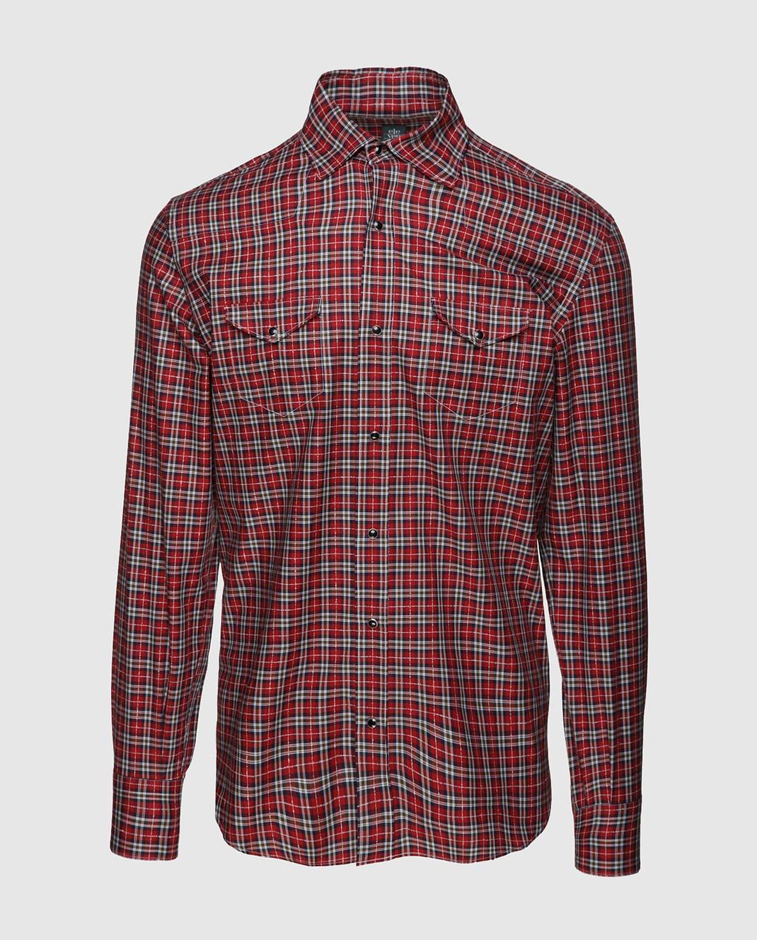 Eleventy Красная рубашка из египетского хлопка 979CA0056CAM24022