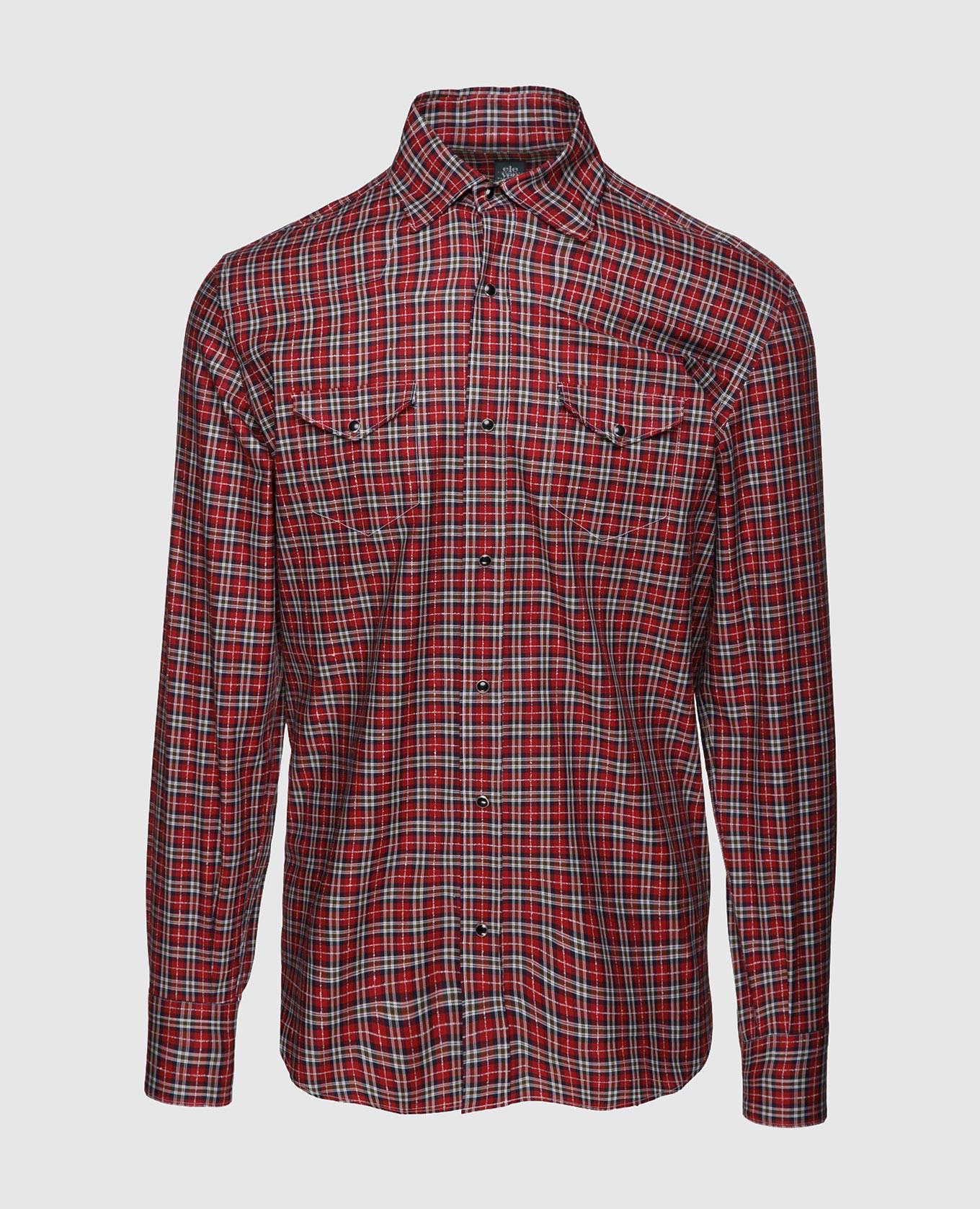 Красная рубашка из египетского хлопка