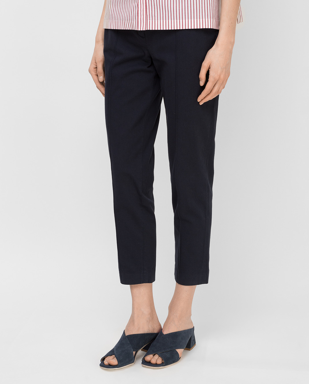Loro Piana Темно-синие брюки F1FAI5089 изображение 3