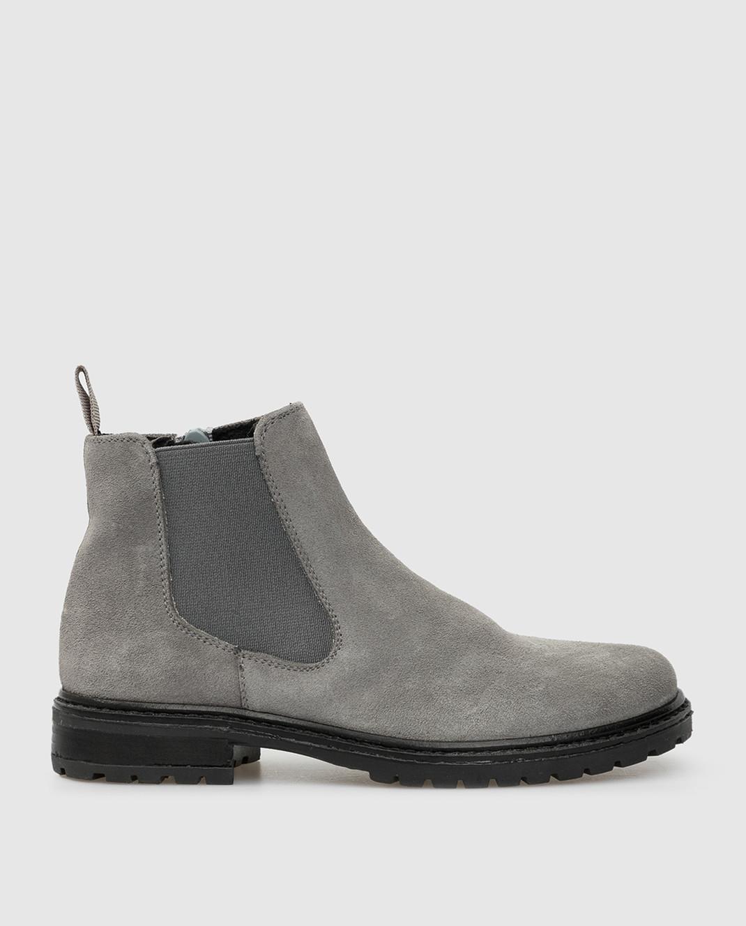 Zecchino D'oro Детские серые замшевые ботинки F0242003032