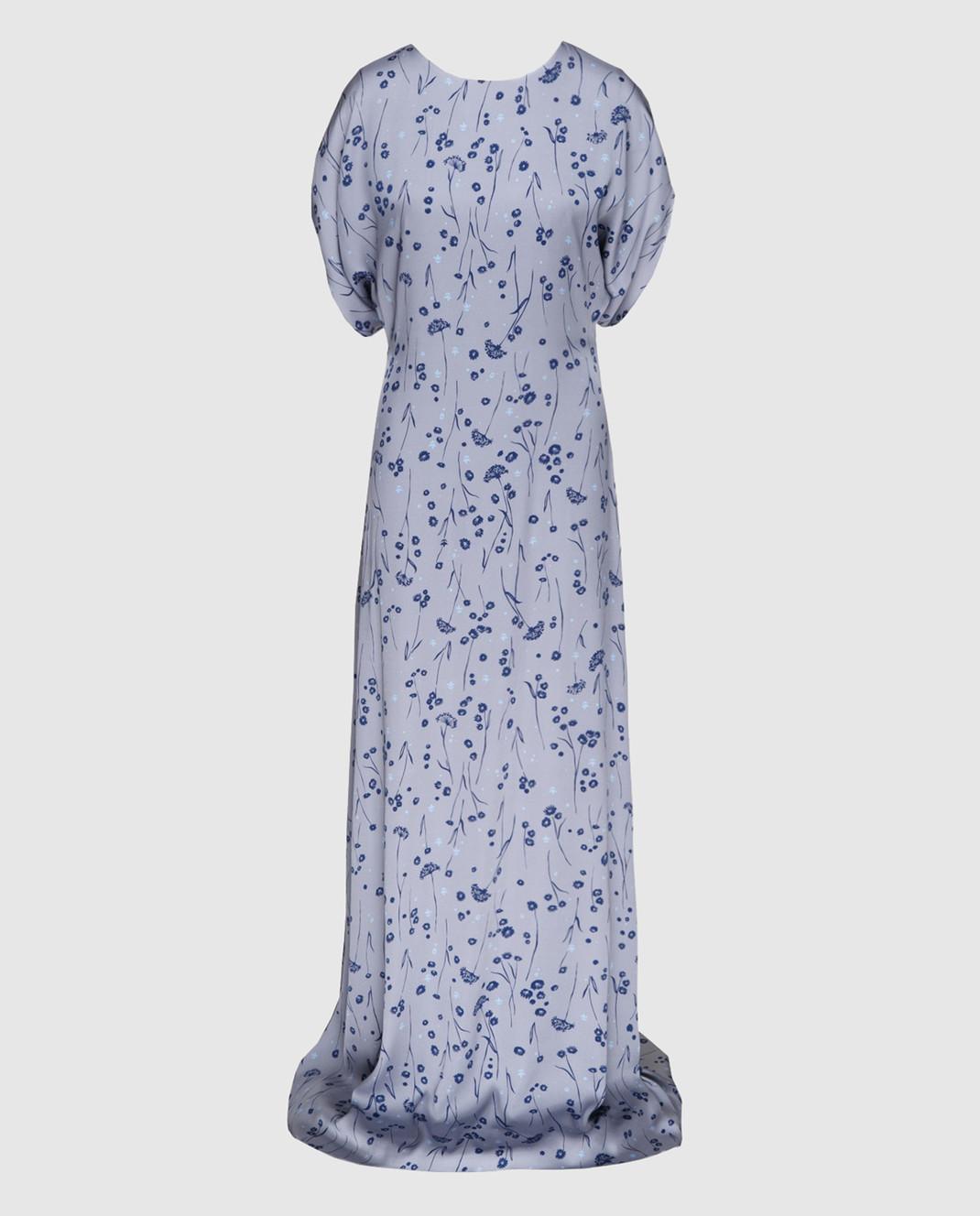 Alexander Terekhov Серое платье из шелка DE117