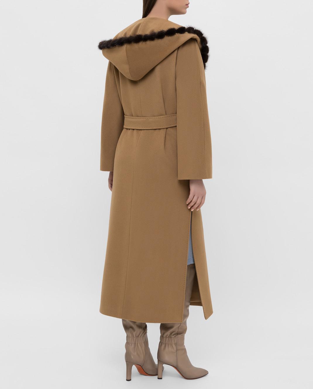 Heresis Бежевое пальто из шерсти M33130VIF260 изображение 4
