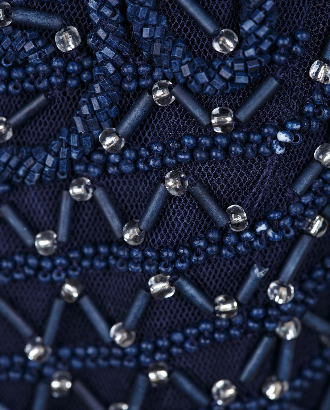 Rachel Gilbert Темно-синее платье из шелка 60014 изображение 5