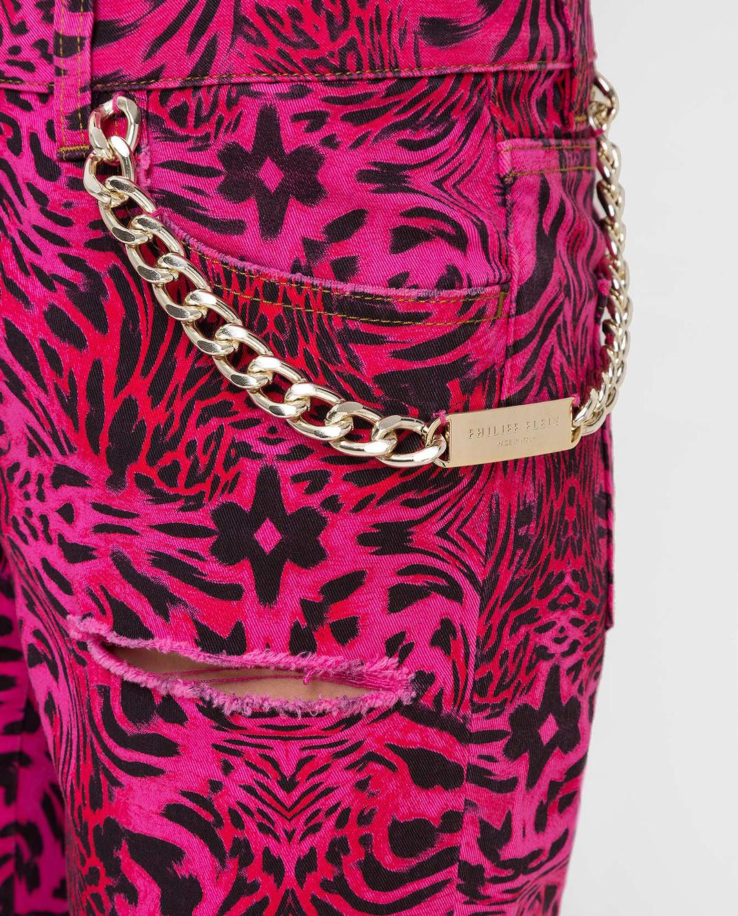 Philipp Plein Розовые джинсы CWDT0208 изображение 5