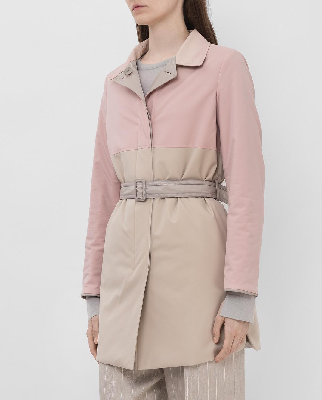 Loro Piana Двусторонняя куртка с воротником из меха лисицы F1FAI2541 изображение 3